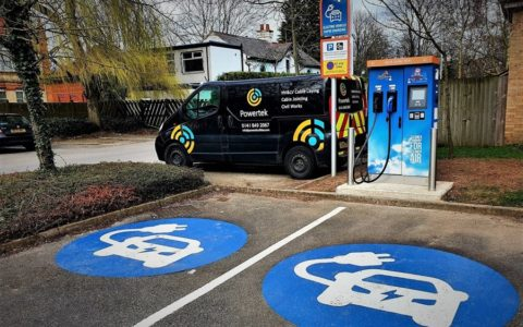 Rapid Charge Point install